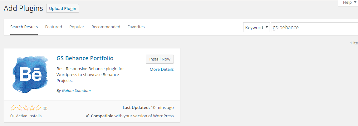 Install by Search Plugin